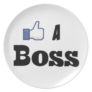 Like A Boss Plate