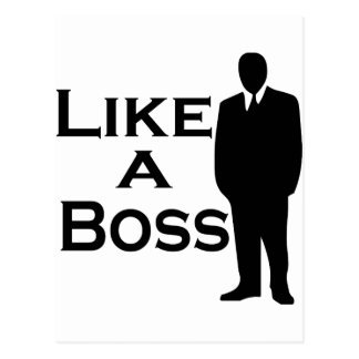 Like a Boss Postcard