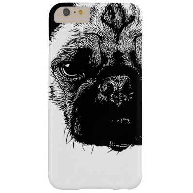 Like a Boss Pug Face Cool Hand Drawn Barely There iPhone 6 Plus Case