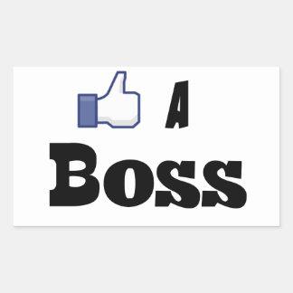 Like A Boss Rectangular Sticker