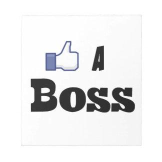 Like A Boss Scratch Pads