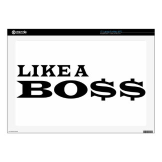 Like A Boss Laptop Decals