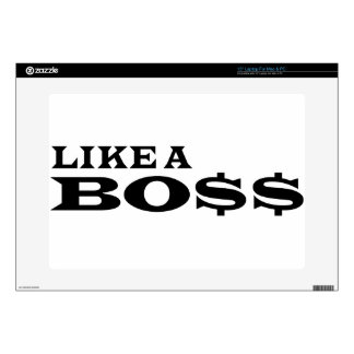 """Like A Boss Decal For 15"""" Laptop"""