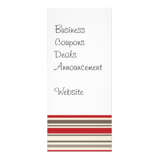 Like a Boss Sock Monkey with Tie on Red Stripes Rack Card