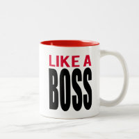 Like A Boss Two-Tone Coffee Mug