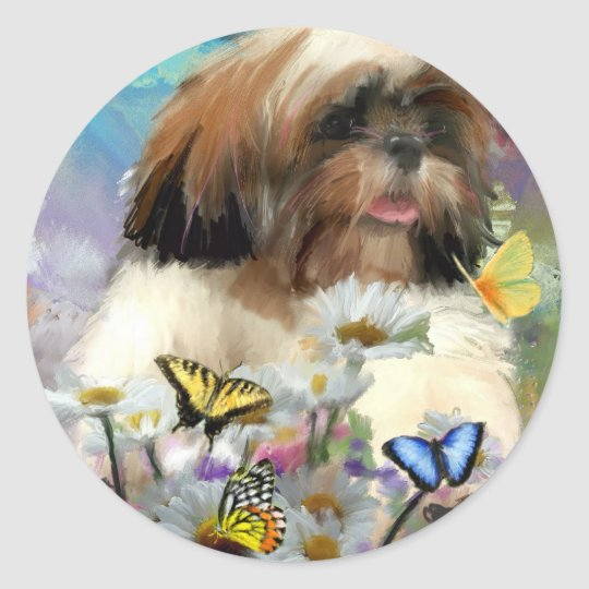 like a butterfly classic round sticker