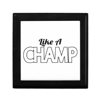 Like A Champ Keepsake Box