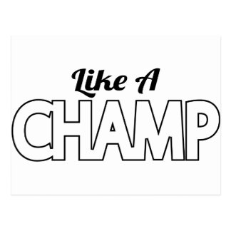 Like A Champ Postcard