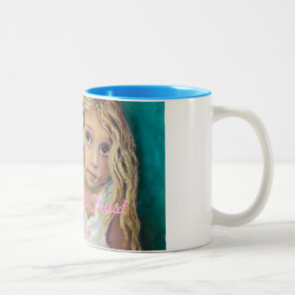 Like a child...Trust in God Two-Tone Coffee Mug