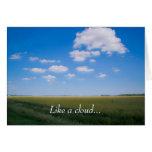 """Like a cloud"" Poem Greeting Card"
