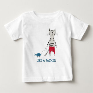 LIKE A FATHER T-SHIRT FUNNY FISHER MAN