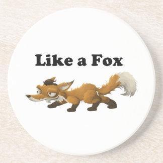 Like a Fox Funny Cartoon Joke Pun Coasters