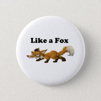 Like a Fox Funny Cartoon Joke Pun Pinback Button