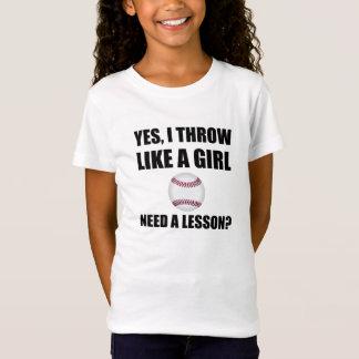 Like A Girl Baseball T-Shirt