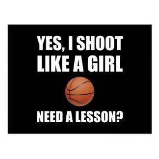Like A Girl Basketball Postcard