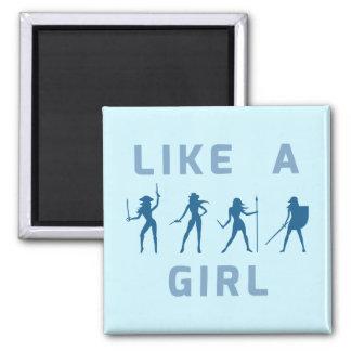 Like a Girl Blue Magnet