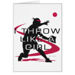 Like a girl D Greeting Cards