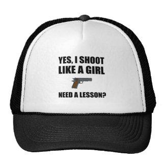 Like A Girl Gun Shoot Trucker Hat