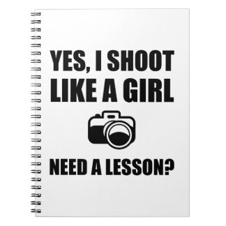 Like A Girl Photography Shoot Spiral Notebook