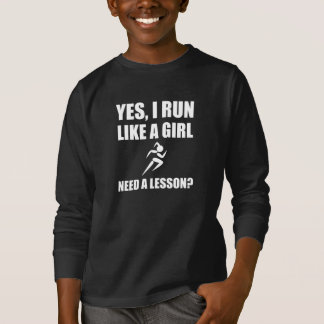 Like A Girl Running T-Shirt