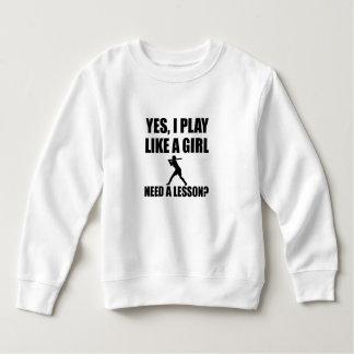 Like A Girl Softball Sweatshirt