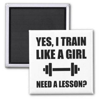 Like A Girl Train Magnet
