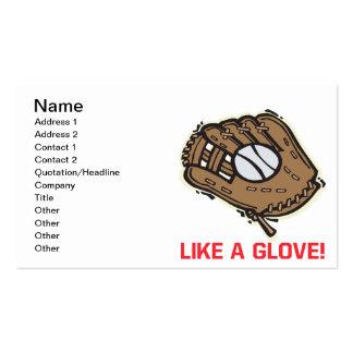 Like A Glove Business Card Template