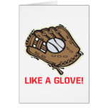 Like A Glove Greeting Card