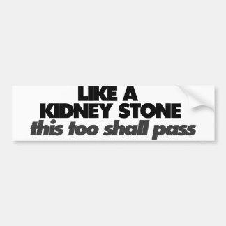 Like a Kidney Stone Bumper Sticker