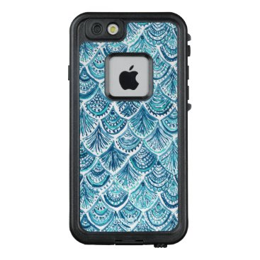Beach Themed LIKE A MERMAID Nautical Fish Scales Pattern LifeProof® FRĒ® iPhone 6/6s Case