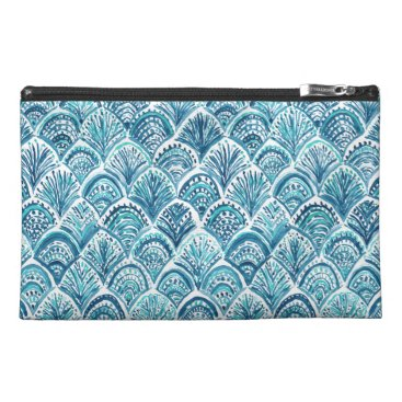 Beach Themed LIKE A MERMAID Nautical Fish Scales Pattern Travel Accessories Bags