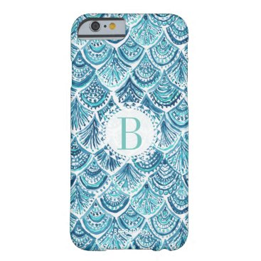 Beach Themed LIKE A MERMAID Watercolor Fish Scales | Custom Barely There iPhone 6 Case