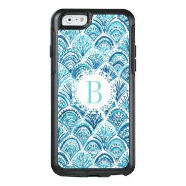 Beach Themed LIKE A MERMAID Watercolor Fish Scales | Custom OtterBox iPhone 6/6s Case