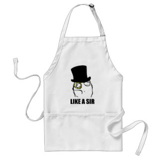 Like a Sir Monocle Rage Face Meme Adult Apron