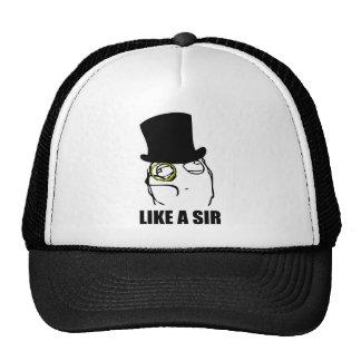 Like a Sir Monocle Rage Face Meme Trucker Hat