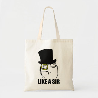 Like a Sir Monocle Rage Face Meme Tote Bag