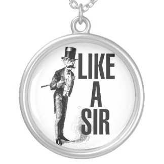 Like a SIR Stache Personalized Necklace