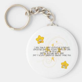like a star shining brightly basic round button keychain