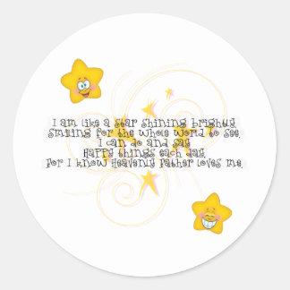 like a star shining brightly classic round sticker
