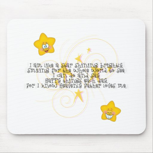 like a star shining brightly mouse pad