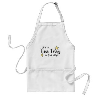 Like a tea Tray in the Sky Adult Apron