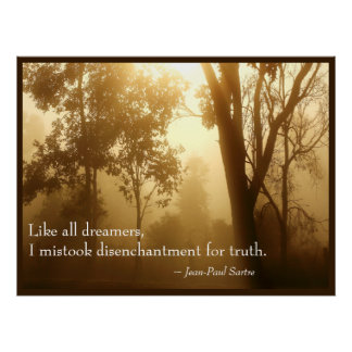 Like All Dreamers Inspirational Quote Wisdom Poster