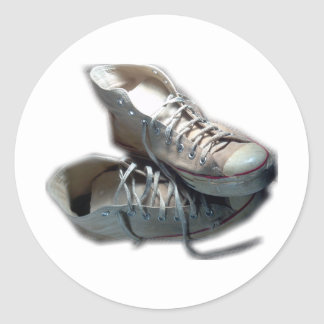 Like an Old Friend Sneakers Classic Round Sticker