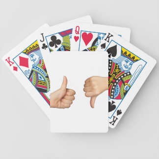 Like and dislike bicycle playing cards