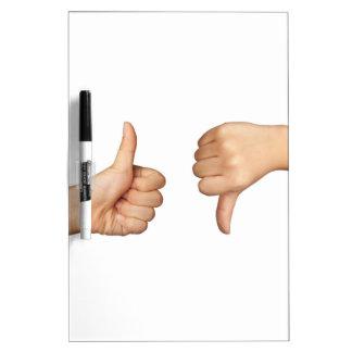 Like and dislike dry erase board