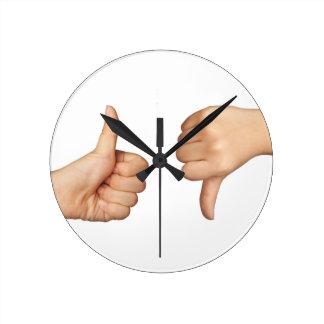 Like and dislike round clock