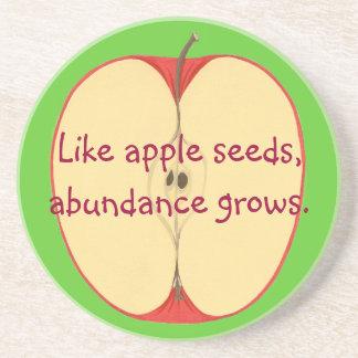 Like apple seeds, abundance grows, Coasters