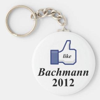 LIKE BACHMANN 2012 BASIC ROUND BUTTON KEYCHAIN