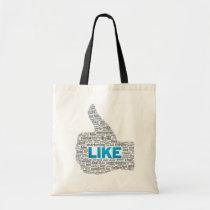 bag, tote, like, facebook, thumb, Bag with custom graphic design