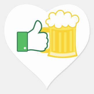 Like Beer Heart Sticker
